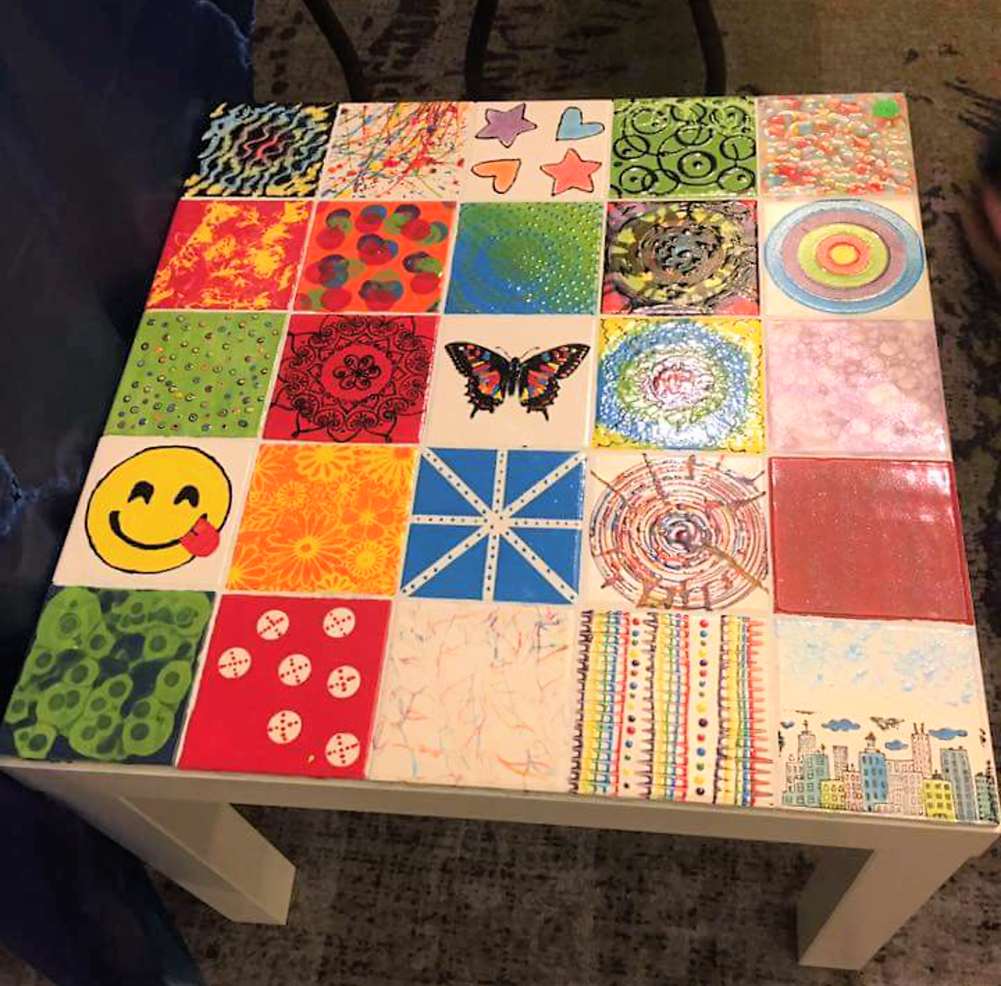 summer camp tile table